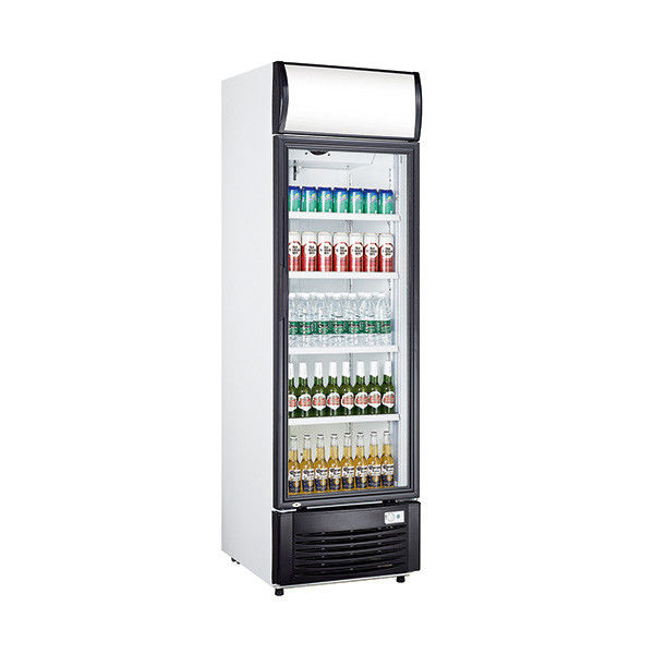 268L Single Door Beverage Cooler Refrigerator Aluminium Inner Cabinet