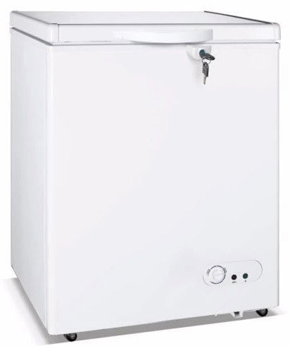 Saving-energy Low Noise Manual Defrost 250L Chest Freezer Swing Door Type Four Wheels For Flexible Move