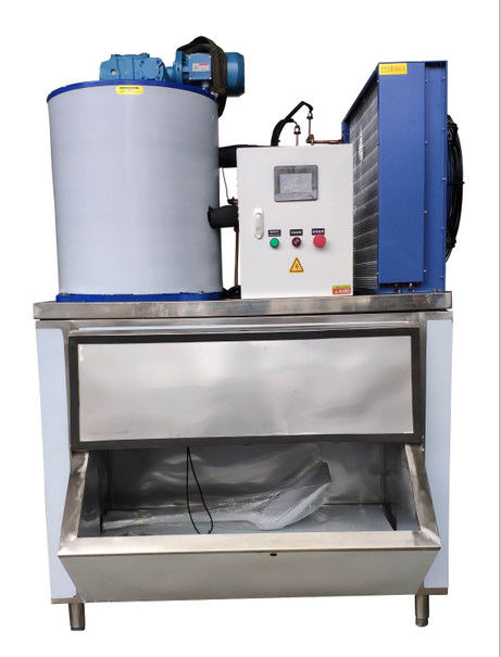 Fast Cooling Low Power Automatic Flake Ice Maker 1000kg/24h Easy To Move