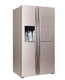China 598L Side By Side Refrigerator Freezer Super Freezing CE Approval With Ice Maker And Home Bar fabriek